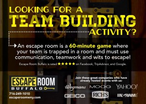 Buffalo Escape Room Space Program